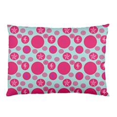 Blue Retro Dots Pillow Case (two Sides)
