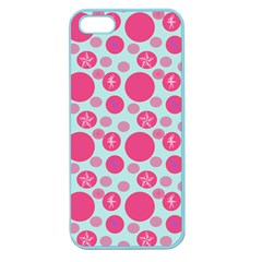 Blue Retro Dots Apple Seamless Iphone 5 Case (color)