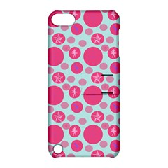 Blue Retro Dots Apple Ipod Touch 5 Hardshell Case With Stand by snowwhitegirl