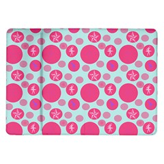 Blue Retro Dots Samsung Galaxy Tab 10 1  P7500 Flip Case by snowwhitegirl