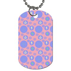 Pink Retro Dots Dog Tag (one Side)