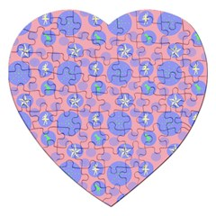 Pink Retro Dots Jigsaw Puzzle (heart)