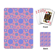 Pink Retro Dots Playing Card