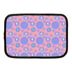 Pink Retro Dots Netbook Case (medium)  by snowwhitegirl