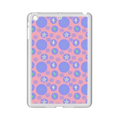 Pink Retro Dots Ipad Mini 2 Enamel Coated Cases by snowwhitegirl