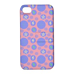Pink Retro Dots Apple Iphone 4/4s Hardshell Case With Stand by snowwhitegirl