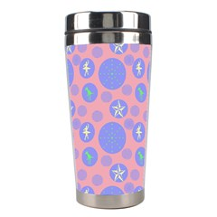 Pink Retro Dots Stainless Steel Travel Tumblers by snowwhitegirl