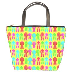 Colorful Robots Bucket Bags
