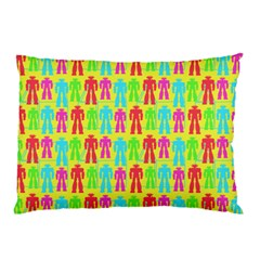 Colorful Robots Pillow Case