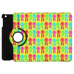 Colorful Robots Apple Ipad Mini Flip 360 Case by snowwhitegirl