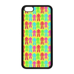 Colorful Robots Apple Iphone 5c Seamless Case (black)
