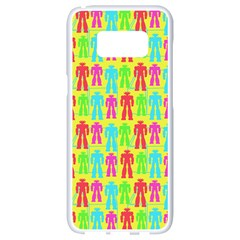 Colorful Robots Samsung Galaxy S8 White Seamless Case