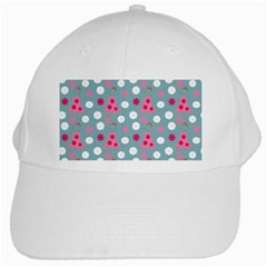 Pink Dress Blue White Cap