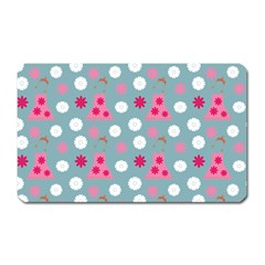 Pink Dress Blue Magnet (rectangular)