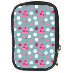 Pink Dress Blue Compact Camera Cases by snowwhitegirl