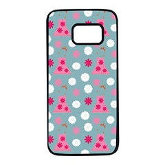 Pink Dress Blue Samsung Galaxy S7 Black Seamless Case