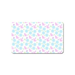 Cats And Flowers Magnet (name Card)