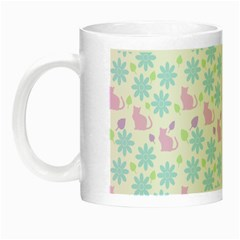 Cats And Flowers Night Luminous Mugs