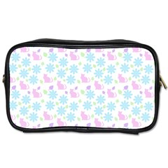 Cats And Flowers Toiletries Bags by snowwhitegirl