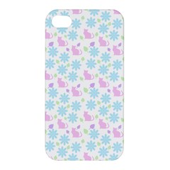 Cats And Flowers Apple Iphone 4/4s Hardshell Case by snowwhitegirl