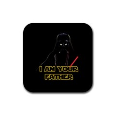 Darth Vader Cat Rubber Coaster (square)  by Valentinaart