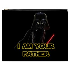 Darth Vader Cat Cosmetic Bag (xxxl)  by Valentinaart