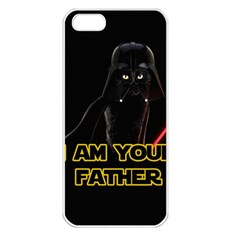 Darth Vader Cat Apple Iphone 5 Seamless Case (white) by Valentinaart