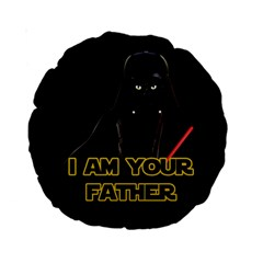 Darth Vader Cat Standard 15  Premium Round Cushions