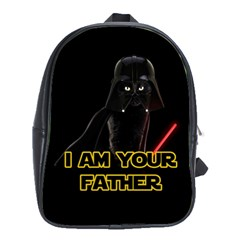 Darth Vader Cat School Bag (xl) by Valentinaart