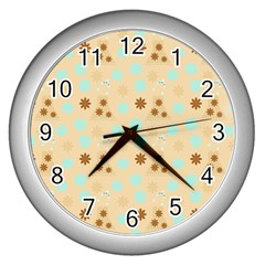 Beige Dress Wall Clocks (silver)
