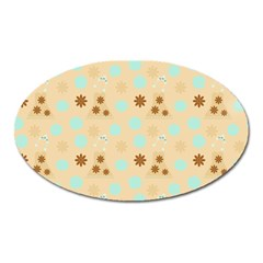 Beige Dress Oval Magnet