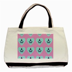 Cupcakes In Pink Basic Tote Bag (two Sides) by snowwhitegirl