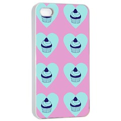 Cupcakes In Pink Apple Iphone 4/4s Seamless Case (white) by snowwhitegirl