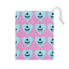 Cupcakes In Pink Drawstring Pouches (large)  by snowwhitegirl