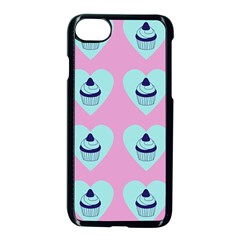 Cupcakes In Pink Apple Iphone 8 Seamless Case (black)