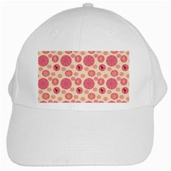 Cream Retro Dots White Cap