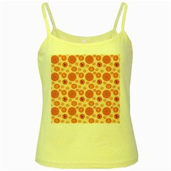 Cream Retro Dots Yellow Spaghetti Tank