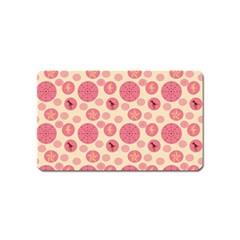 Cream Retro Dots Magnet (name Card)