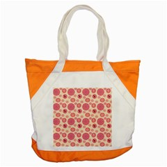 Cream Retro Dots Accent Tote Bag