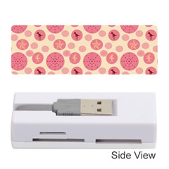 Cream Retro Dots Memory Card Reader (stick)  by snowwhitegirl
