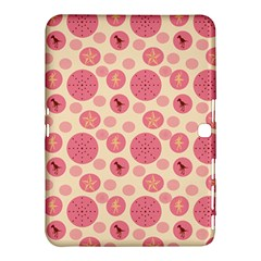 Cream Retro Dots Samsung Galaxy Tab 4 (10 1 ) Hardshell Case