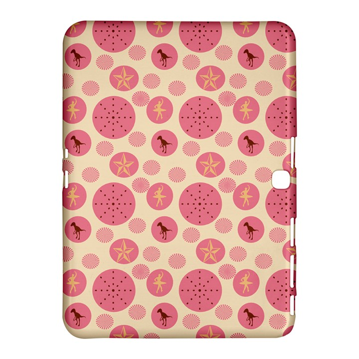 Cream Retro Dots Samsung Galaxy Tab 4 (10.1 ) Hardshell Case
