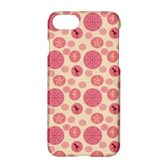 Cream Retro Dots Apple Iphone 7 Hardshell Case by snowwhitegirl
