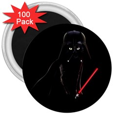 Darth Vader Cat 3  Magnets (100 Pack) by Valentinaart