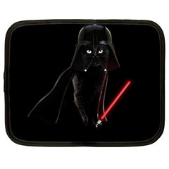 Darth Vader Cat Netbook Case (large) by Valentinaart
