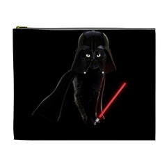 Darth Vader Cat Cosmetic Bag (xl) by Valentinaart