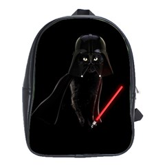 Darth Vader Cat School Bag (large) by Valentinaart