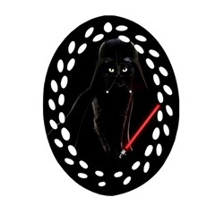 Darth Vader Cat Oval Filigree Ornament (two Sides) by Valentinaart