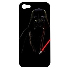 Darth Vader Cat Apple Iphone 5 Hardshell Case by Valentinaart