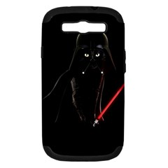 Darth Vader Cat Samsung Galaxy S Iii Hardshell Case (pc+silicone) by Valentinaart